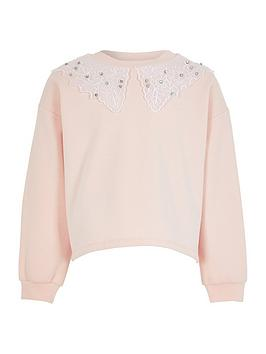 river-island-girls-lace-collar-crew-neck-sweat--nbsppink