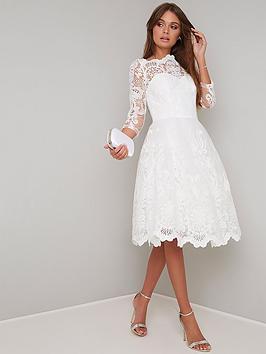 chi-chi-london-flore-lace-top-skater-dress-white