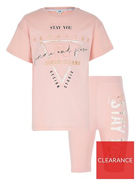 river-island-girls-active-cycling-short-and-t-shirt-set--nbsppink
