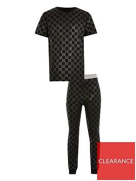 river-island-boys-monogram-pyjama-set-black