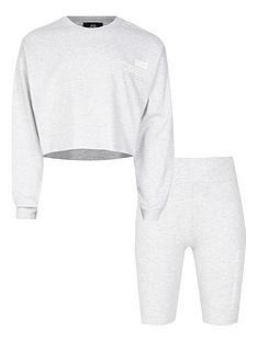 river-island-girls-ri-one-top-and-cycling-short--nbspgrey