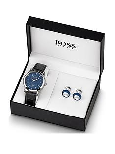 boss-blue-mensnbspwatch-amp-cufflink-gift-set