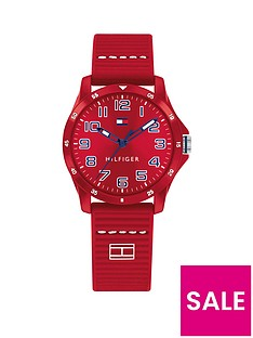 tommy-hilfiger-red-dial-silicone-strap-childrensnbspwatch