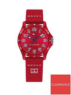 tommy-hilfiger-red-dial-silicone-strap-childrensnbspwatch