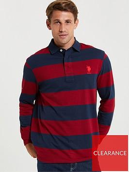 us-polo-assn-us-polo-assn-traditional-rugby-polo-shirt-navy