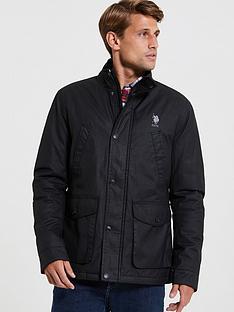 us-polo-assn-us-polo-assn-classic-dhm-waxed-jacket