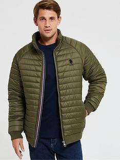 us-polo-assn-raglannbsplight-paddednbspjacket-green