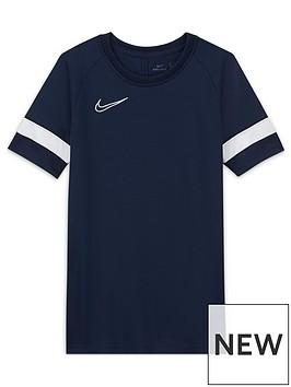 nike-junior-academy-21-dri-fit-t-shirt-navywhite