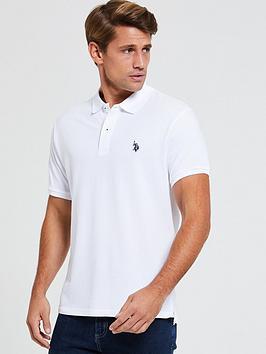 us-polo-assn-us-polo-assn-core-pique-polo-shirt-regular-fit-white
