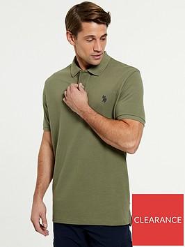 us-polo-assn-core-pique-regular-fitnbsppolo-shirtnbsp--green