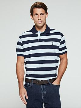 us-polo-assn-block-stripe-relaxed-fitnbsppolo-shirt-bluewhite