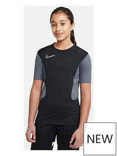 nike-junior-academy-short-sleeved-t-shirt-blackgrey