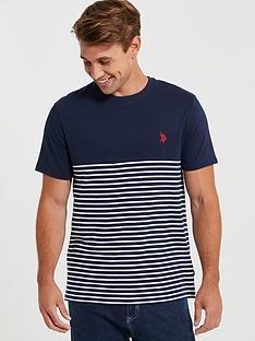 us-polo-assn-fade-stripe-ringer-t-shirt-navy