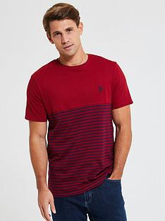 us-polo-assn-fade-stripe-ringer-t-shirt-red
