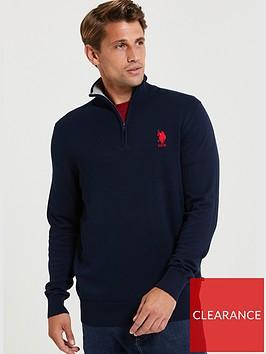 us-polo-assn-knit-classic-14-zip-top