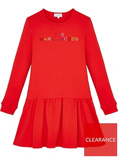the-marc-jacob-girls-multi-logo-dress-red