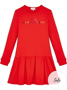 the-marc-jacob-girls-multi-logo-dress-red