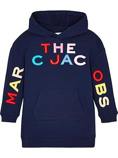the-marc-jacob-girls-multi-logo-hooded-sweat-dress-navy