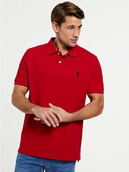 us-polo-assn-core-pique-regular-fit-polo-shirtnbsp--red