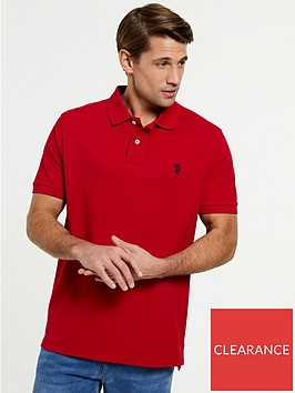 us-polo-assn-core-pique-regular-fit-polo-shirtnbsp--red