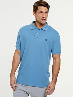 us-polo-assn-core-pique-regular-fitnbsppolo-shirt-blue