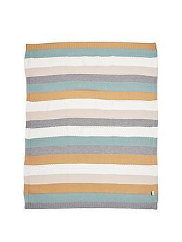 mamas-papas-knitted-blanket-multi-stripe-blue