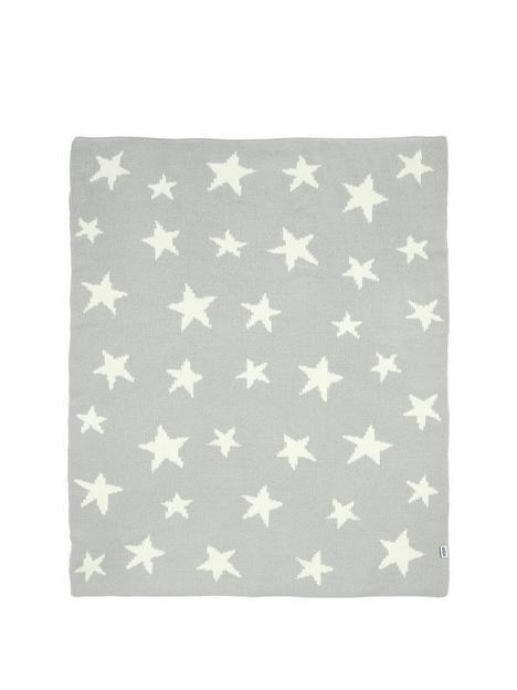 mamas-papas-chenille-blanket-grey-star