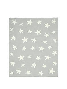 mamas-papas-chenille-blanket-grey-star