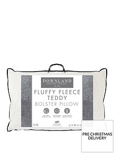 downland-everyday-fluffy-fleece-teddy-bolster-pillownbsp