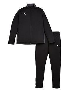 puma-junior-football-play-tracksuit-black