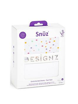 Snuz Cot &Amp; Cot Bed 2 Pack Fitted Sheet|