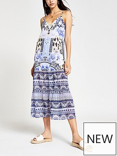 river-island-floral-cami-maxi-beach-dress-blue