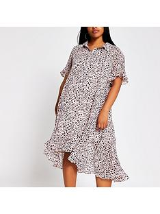 ri-plus-ri-plus-spot-print-midi-shirt-dress-pink