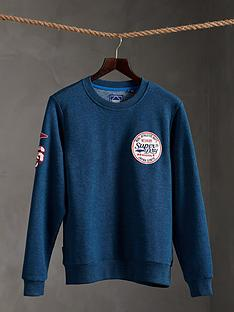 superdry-limited-edition-standard-patch-crew-sweatshirt-dark-blue