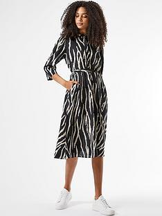 dorothy-perkins-zebra-print-shirtnbspdress--nbspblacknbsp