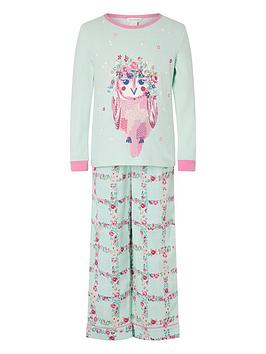 monsoon-girls-organic-owl-jersey-and-woven-pyjama-set-aqua
