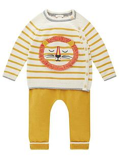 monsoon-baby-boys-stripe-lion-knitted-set-mustard