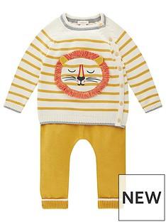 monsoon-baby-boys-stripe-lion-knitted-set-mustard