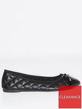 dorothy-perkins-penelope-quilted-toe-cap-ballerinanbsppumps--nbspblack