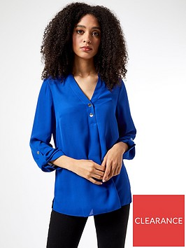 dorothy-perkins-roll-sleeve-shirt-bluenbsp