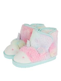 monsoon-girls-fluffy-unicorn-slipper-boot-blue