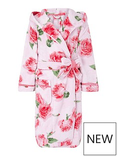 monsoon-girls-sustainable-rose-print-chunky-robe-pink