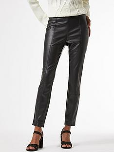 dorothy-perkins-petite-faux-leather-punbspseam-leggings-blacknbsp