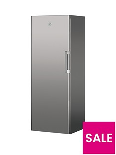 indesit-ui6f1ts1-60cm-width-frost-free-tall-freezer-silver