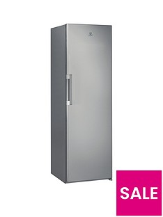 indesit-si61s1-60cm-width-tall-fridge-silver