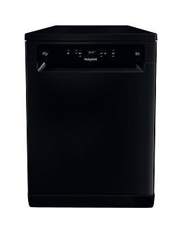 HOTPOINT HFC3C26WCBUK 14 Place Extra Efficient Freestanding Dishwasher - Black