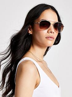 river-island-snaffle-arm-aviator-sunglasses-gold