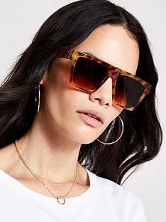 river-island-tortoiseshell-visor-sunglasses-brown