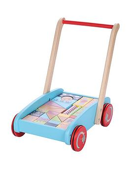 In The Night Garden Wooden Baby Walker With Blocks