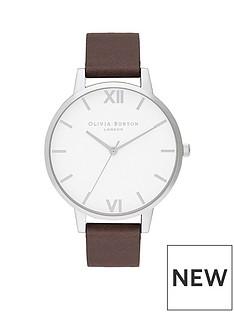 olivia-burton-olivia-burton-shoreditch-white-dial-black-leather-strap-unisex-watch